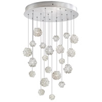 Natural Inspirations 22 Light 24 inch Silver Leaf Drop Light Ceiling Light