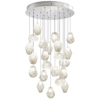 Fine Art Lamps Natural Inspirations 22 Light Drop Light in Silver Leaf 853240-13ST