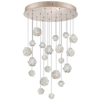Natural Inspirations 22 Light 24 inch Gold-Toned Silver Leaf Drop Light Ceiling Light