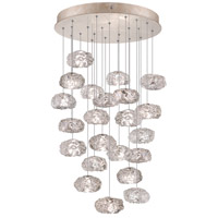 Fine Art Lamps Natural Inspirations 22 Light Drop Light in Gold-Toned Silver Leaf 853240-21ST