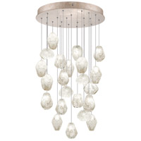 Fine Art Lamps Natural Inspirations 22 Light Drop Light in Gold-Toned Silver Leaf 853240-23ST