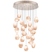 Fine Art Lamps Natural Inspirations 22 Light Drop Light in Gold-Toned Silver Leaf 853240-24ST