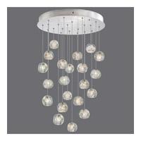 Fine Art Lamps 853240-106ST Natural Inspirations 22 Light 24 inch Silver Drop Light Ceiling Light