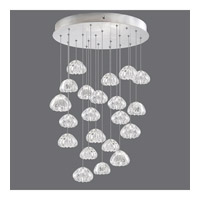 Fine Art Lamps 853240-107ST Natural Inspirations 22 Light 24 inch Silver Pendant Ceiling Light