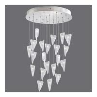 Fine Art Lamps 853240-108ST Natural Inspirations 22 Light 24 inch Silver Drop Light Ceiling Light