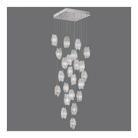 Fine Art Lamps Natural Inspirations 22 Light Pendant in Platinized Silver Leaf 853340-101ST