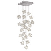 Fine Art Lamps Natural Inspirations 22 Light Pendant in Platinized Silver Leaf 853340-102ST