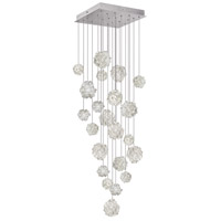 Fine Art Lamps Natural Inspirations 22 Light Drop Light in Silver Leaf 853340-105ST
