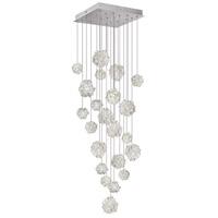 Fine Art Lamps 853340-105ST Natural Inspirations 22 Light 24 inch Silver Pendant Ceiling Light