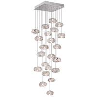 Fine Art Lamps Natural Inspirations 22 Light Drop Light in Platinized Silver Leaf 853340-11ST