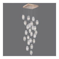 Fine Art Lamps Natural Inspirations 22 Light Pendant in Gold Toned Silver Leaf 853340-201ST