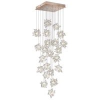 Fine Art Lamps Natural Inspirations 22 Light Pendant in Gold Toned Silver Leaf 853340-202ST