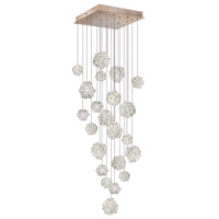 Fine Art Lamps Natural Inspirations 22 Light Drop Light in Gold-Toned Silver Leaf 853340-205ST