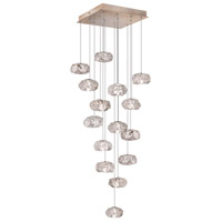 Fine Art Lamps Natural Inspirations 22 Light Drop Light in Gold-Toned Silver Leaf 853340-21ST