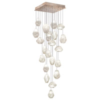 Fine Art Lamps Natural Inspirations 22 Light Drop Light in Gold-Toned Silver Leaf 853340-23ST