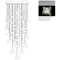 Fine Art Lamps Natural Inspirations 36 Light Pendant in Platinized Silver Leaf 853440-102ST