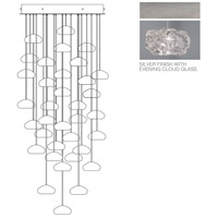 Fine Art Lamps Natural Inspirations 36 Light Drop Light in Platinized Silver Leaf 853440-11ST