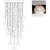 Fine Art Lamps Natural Inspirations 36 Light Drop Light in Silver Leaf 853440-13ST