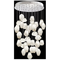 Fine Art Lamps 853440-13LD Natural Inspirations 36 Light 34 inch Silver Pendant Ceiling Light