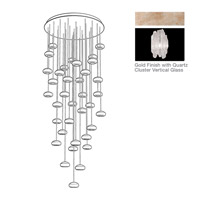 Fine Art Lamps Natural Inspirations 36 Light Pendant in Gold Toned Silver Leaf 853440-201ST