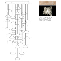 Fine Art Lamps Natural Inspirations 36 Light Pendant in Gold Toned Silver Leaf 853440-202ST