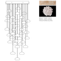 Fine Art Lamps Natural Inspirations 36 Light Drop Light in Gold-Toned Silver Leaf 853440-205ST