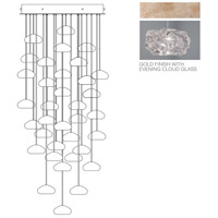 Fine Art Lamps Natural Inspirations 36 Light Drop Light in Gold-Toned Silver Leaf 853440-21ST