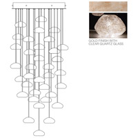 Fine Art Lamps Natural Inspirations 36 Light Drop Light in Gold-Toned Silver Leaf 853440-23ST