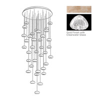 Fine Art Lamps 853440-207ST Natural Inspirations 36 Light 34 inch Gold Pendant Ceiling Light