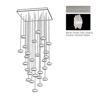 Fine Art Lamps Natural Inspirations 30 Light Pendant in Platinized Silver Leaf 853540-101ST