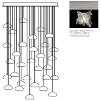 Natural Inspirations 30 Light 30 inch Platinized Silver Leaf Pendant Ceiling Light