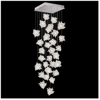 Fine Art Lamps 853540-102LD Natural Inspirations LED 30 Light 30 inch Silver Pendant Ceiling Light