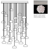 Fine Art Lamps 853540-105ST Natural Inspirations 30 Light 30 inch Silver Drop Light Ceiling Light