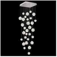 Fine Art Lamps 853540-105LD Natural Inspirations LED 30 Light 30 inch Silver Pendant Ceiling Light