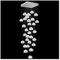 Fine Art Lamps 853540-107LD Natural Inspirations LED 30 Light 30 inch Silver Pendant Ceiling Light
