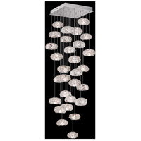 Fine Art Lamps 853540-11LD Natural Inspirations LED 30 Light 30 inch Silver Pendant Ceiling Light