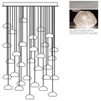 Natural Inspirations 30 Light 30 inch Silver Leaf Drop Light Ceiling Light