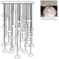Fine Art Lamps 853540-13ST Natural Inspirations 30 Light 30 inch Silver Pendant Ceiling Light