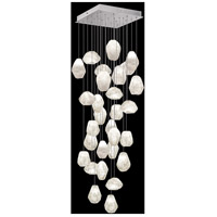 Fine Art Lamps 853540-13LD Natural Inspirations LED 30 Light 30 inch Silver Pendant Ceiling Light