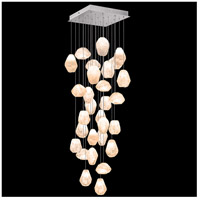 Fine Art Lamps 853540-14LD Natural Inspirations LED 30 Light 30 inch Silver Pendant Ceiling Light