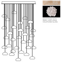 Fine Art Lamps Natural Inspirations 30 Light Drop Light in Gold-Toned Silver Leaf 853540-205ST