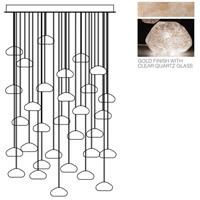 Fine Art Lamps Natural Inspirations 30 Light Drop Light in Gold-Toned Silver Leaf 853540-23ST