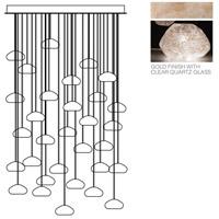 Fine Art Lamps 853540-23ST Natural Inspirations 30 Light 30 inch Gold Pendant Ceiling Light