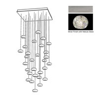 Fine Art Lamps 853540-106ST Natural Inspirations 30 Light 30 inch Silver Pendant Ceiling Light