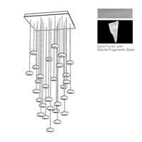 Natural Inspirations 30 Light 30 inch Silver Drop Light Ceiling Light