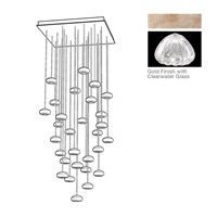 Fine Art Lamps 853540-207ST Natural Inspirations 30 Light 30 inch Gold Pendant Ceiling Light