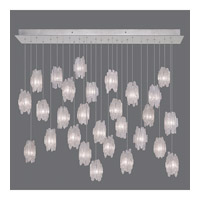Fine Art Lamps Natural Inspirations 28 Light Pendant in Platinized Silver Leaf 853640-101ST