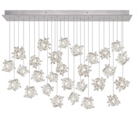 Natural Inspirations 28 Light 17 inch Platinized Silver Leaf Pendant Ceiling Light