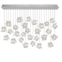 Fine Art Lamps 853640-102ST Natural Inspirations 28 Light 17 inch Silver Pendant Ceiling Light
