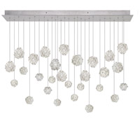 Natural Inspirations 28 Light 54 inch Silver Leaf Drop Light Ceiling Light